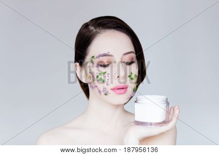 Young Woman With Cream