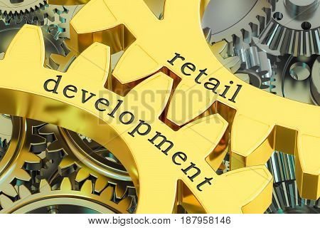 retail development concept on the gears 3D rendering