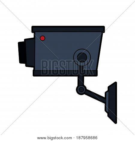security or surveillance camera icon image vector illustration design