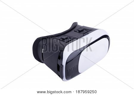 Virtual Reality Helmet Isolated On White Background