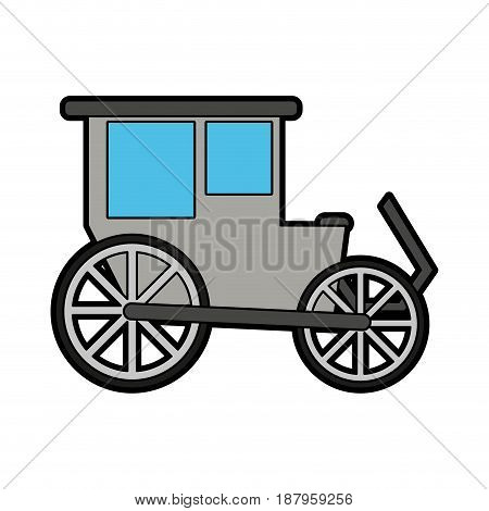 carriage wagon icon image vector illustration design