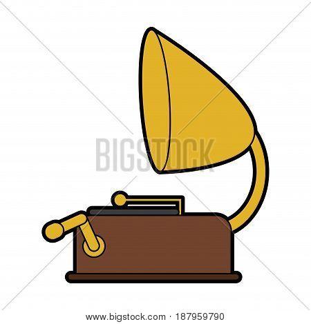 vintage gramophone icon image vector illustration design