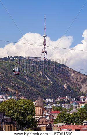 Tbilisi Tv Tower On Mount Mtatsminda - Georgia