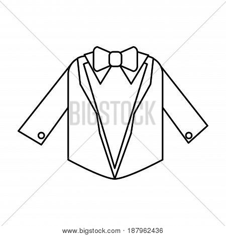 suit with bowtie icon image vector illustration design