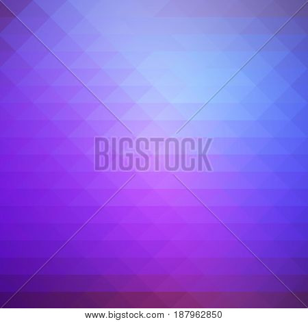 Purple lilac pink abstract geometric background with rows of triangles square
