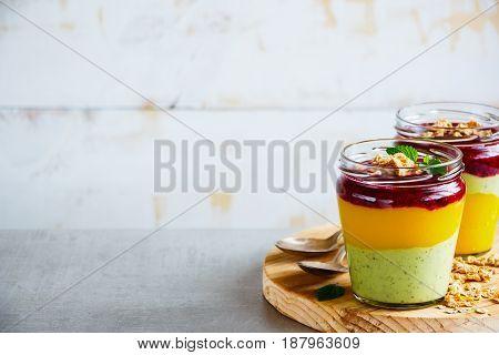 Fruit Layered Smoothie