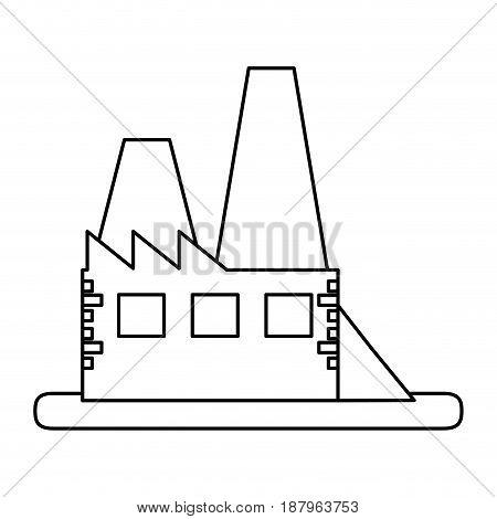 factory building icon image vector illustration design