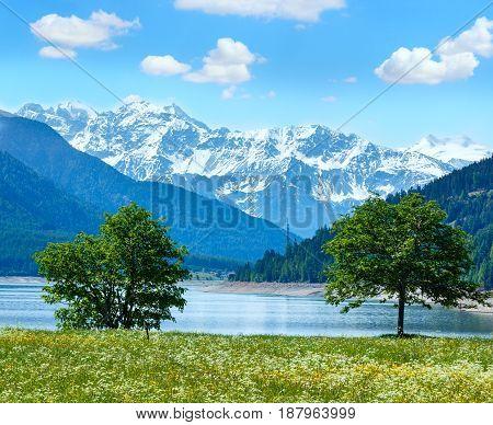Reschensee Summer Landscape (italy).