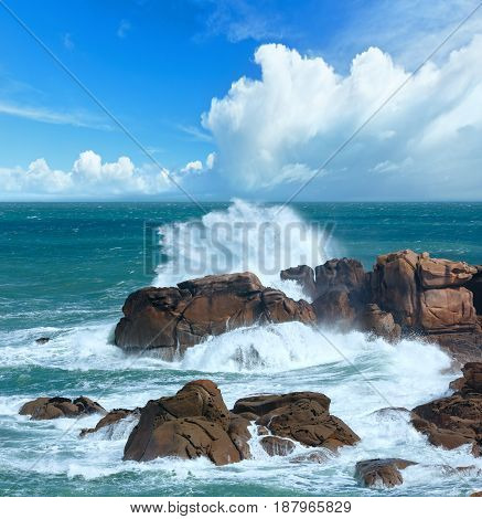 The Pink Granite Coast (brittany, France).