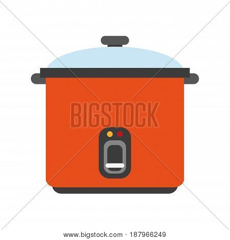 rice cooker appliance icon image vector illustration design