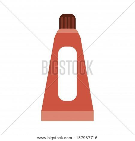 toothpaste package blank label icon image vector illustration design