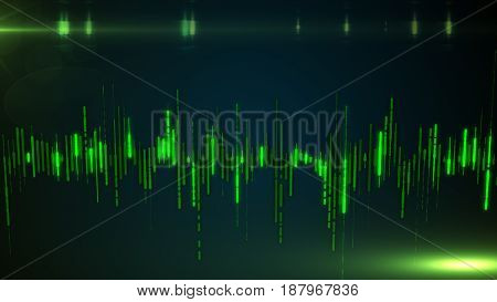 Single Colorful Eq, Equalizer Element Isolated On Dark Background. Sound Audio Wave, Frequency, Melo