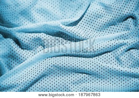 Close Up Of Light Blue Polyester Nylon Sportswear Shorts To Created A Textured Background