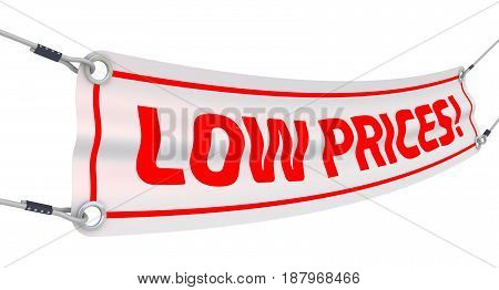Low prices! Advertising banner with inscriptions