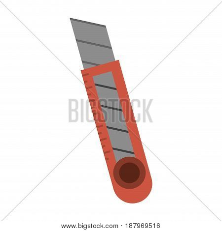 blade cutter stationery tool icon image vector illustration design