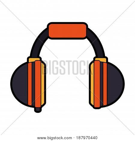 two tone headphones icon image vector illustration design