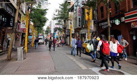 Ximending Street In Taipei, Taiwan