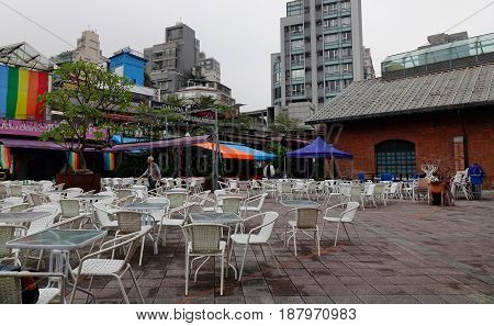 Outdoor Coffee Shop In Taipei, Taiwan