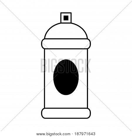 aerosol can blank label icon image vector illustration design