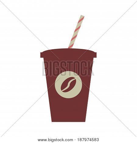 disposable cup coffee beverage icon image vector illustration design