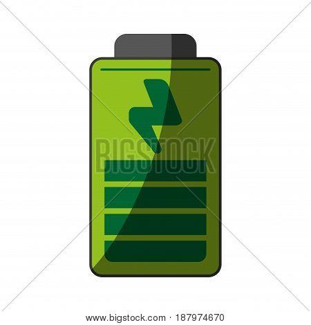 small green  battery icon image vector illustration design