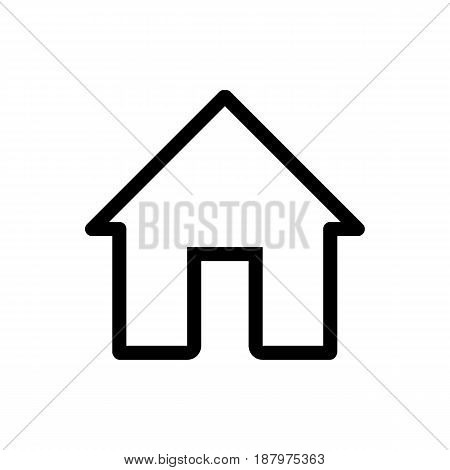 House vector icon. Black and white home illustration. Outline linear house icon for mobile applications. eps 10