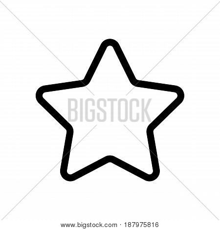 Star vector icon. Black and white favorite sign illustration. Outline linear icon. eps 10