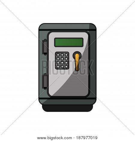 metal strong box to save money, vector illustration
