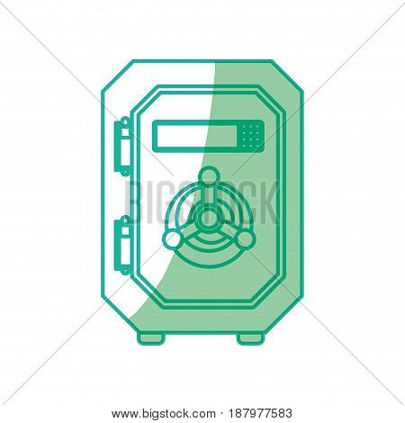 silhouette metal strong box to save money, vector illustration