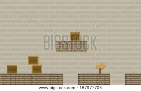Wall game background style vector art collection stock
