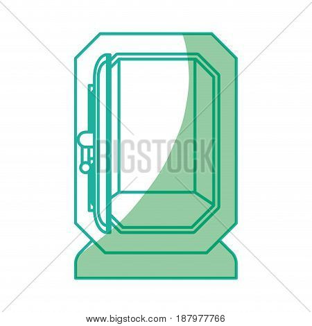 silhouette silver metal strong box open, vector illustration