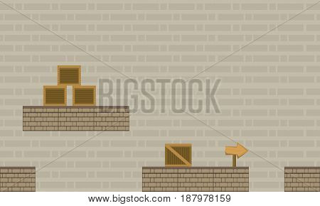Collection stock game background with box vector art