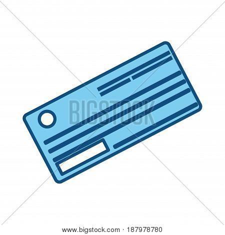 cute paper check bank to pay, vector illustration design