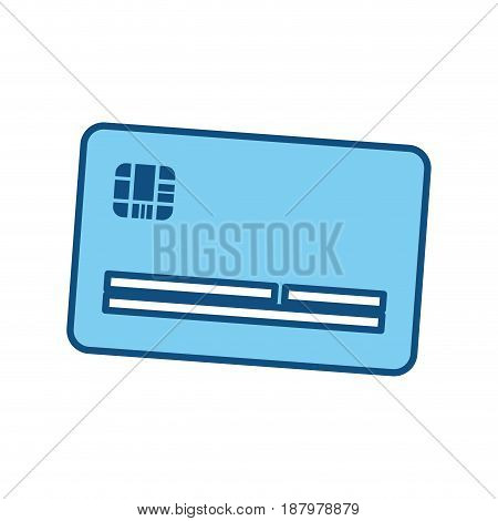 cute credit card to pay electronic, vector illustration