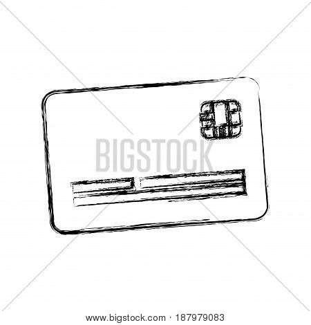 figure cute credit card to pay electronic, vector illustration