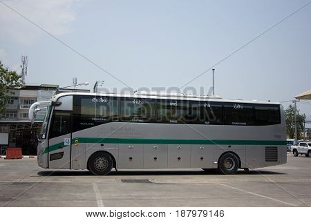 Sunlong Bus Of Green Bus Company. Between Chiangmai And Thungchang Nan.