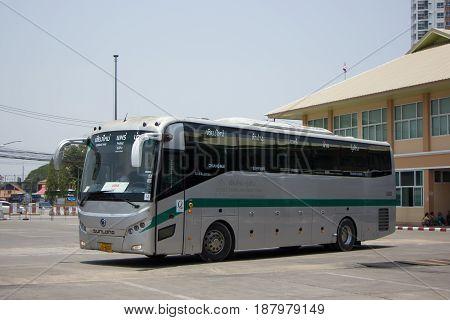 Sunlong Bus Of Green Bus Company. Between Chiangmai And Thungchang Nan.