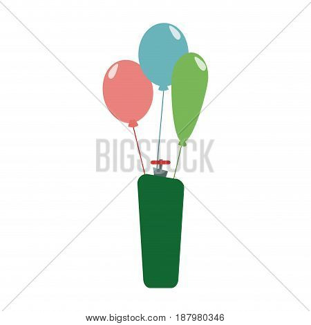 helium filled balloons carnival decoration vector illustration