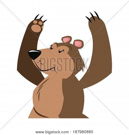 bear cartoon carnival festival circus image vector illustration