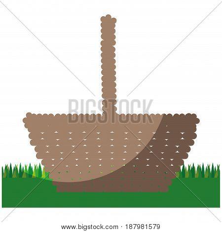 easter basket icon over white background. colorful design. vector illustration