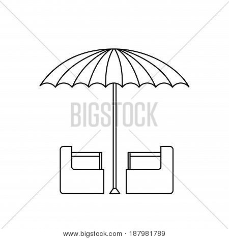 green and white umbrella circus clown equipment vector illustration