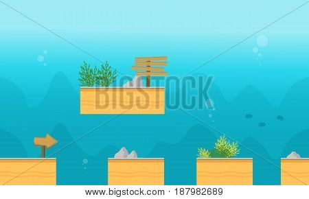 Collection stock underwater style background game illustration