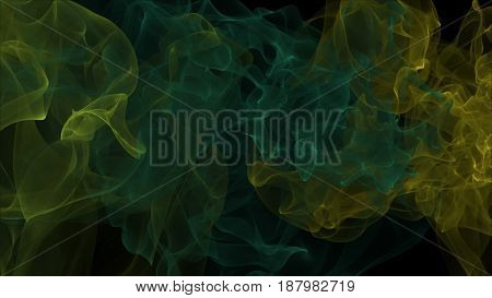 Abstract background with smoke. 3d rendering digital