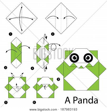 step by step instructions how to make origami A Panda.