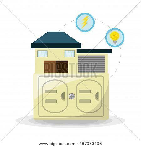 smart home use alternative energy, vector illustration