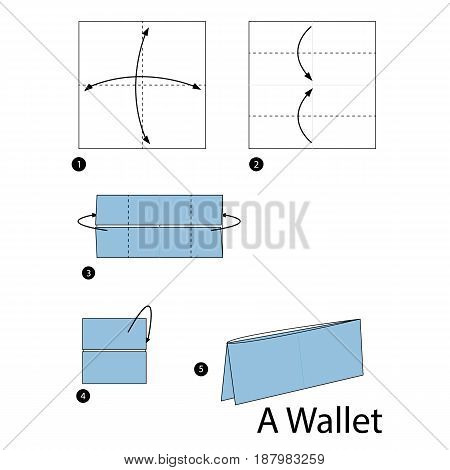 step by step instructions how to make origami A Wallet.