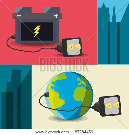 concept releated with electric energy, vector illustration