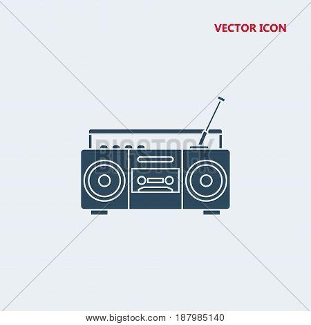 boom box radio with antenna Icon, boom box radio with antenna Icon Eps10, boom box radio with antenna Icon Vector, boom box radio with antenna Icon Eps
