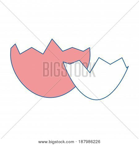 eggshell icon over white background. colorful design. vector illustration