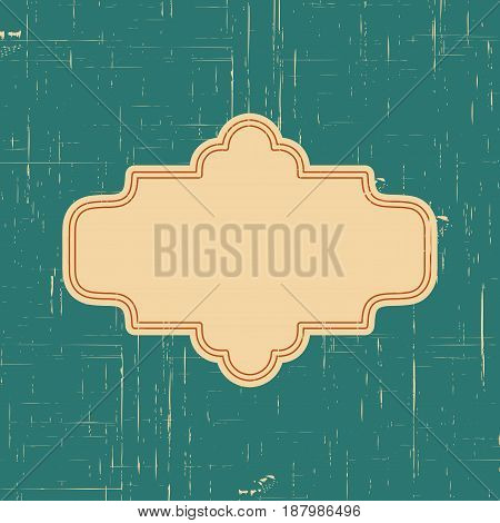 Vector vintage border frame with retro ornament pattern in antique style decorative design. Old fashion texture. Vintage Labels. Retro card and place for text.